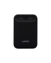 SWITCH POWER BANK GO 10K MAH RUBBER FINISH,  black