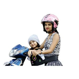KIDSAFE BELT - Two Wheeler Child Safety Belt - World's 1st, Trusted & Leading (Cool Black Eyes), black