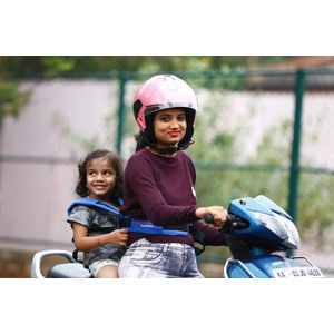 KIDSAFEBELT - Two Wheeler Child Safety Belt - World's 1st, Trusted & Leading (Air Royal Blue), blue