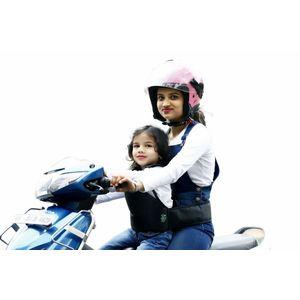 KIDSAFE BELT - Two Wheeler Child Safety Belt - World's 1st, Trusted & Leading (Cool UK Grey New Plain), grey
