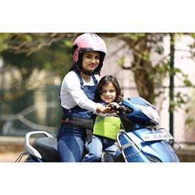 KID SAFE BELT - Two Wheeler Child Safety Belt - World s 1st Trusted & Leading (Sport Parrot Green), green