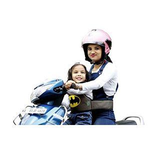 KIDSAFE BELT - Two Wheeler Child Safety Belt - World's 1st, Trusted & Leading (Cool Brown Batman), brown