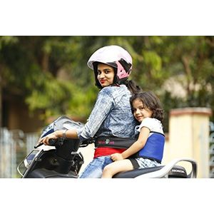 KID SAFE BELT - Two Wheeler Child Safety Belt - World's 1st Trusted & Leading (Sport Royal Blue), blue