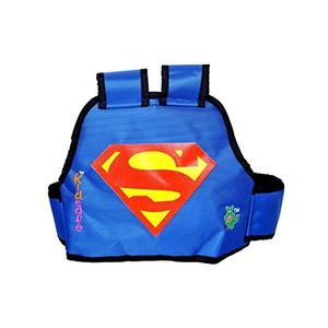 KIDSAFE BELT - Two Wheeler Child Safety Belt - World's 1st, Trusted & Leading (Cool Blue Superman), blue
