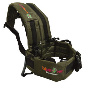 KIDSAFEBELT - Two Wheeler Child Safety Belt - World s 1st, Trusted & Leading (Air Dark Green), green
