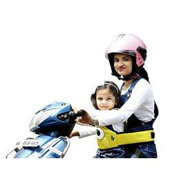 KIDSAFE BELT - Two Wheeler Child Safety Belt - World s 1st, Trusted & Leading (Cool Yellow Eyes), yellow