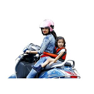 KIDSAFE BELT - Two Wheeler Child Safety Belt - World's 1st, Trusted & Leading (Cool Elegant Orange), elegant