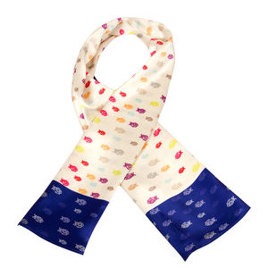 Scarf - Jesus - Blue & Cream color