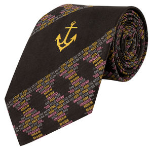 Necktie - Anchor ( black colour)