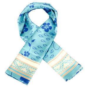 Scarf - Follow me - Sky Blue & white