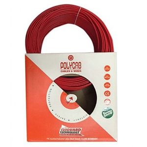 POLYCAB HOUSE WIRE - 200 MTR BUNDLE, 4.0 sqmm, green