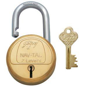 GODREJ PADLOCKS NAV-TAL: 7 Levers Hardened, 2 keys