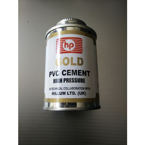 HP PVC GOLD HIGH PRESSURE SOLVENT CEMENT, 500 ml tin