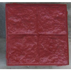 RUBBER MOULD GLOSSY PAVING BLOCK (60MM THICKNESS) - FOUR SQUARE STONE, black