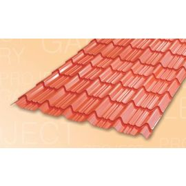 TATA DURASHINE TILE: - CASTLE RED - THICKNESS 0.47MM x WIDTH 1090MM (3.6FEET), 14feet 4270mm