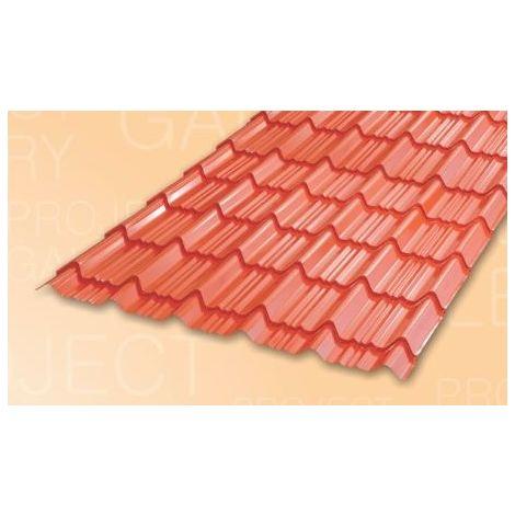 TATA DURASHINE TILE: - CASTLE RED - THICKNESS 0.47MM x WIDTH 1090MM (3.6FEET), 14feet 4270mm