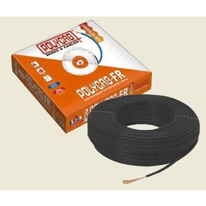 POLYCAB HOUSE WIRE - 90 MTR BUNDLE, 2.5 sqmm, red