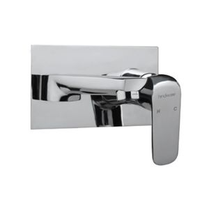 HINDWARE FLUID SERIES - F400013 EXPOSED PART KIT OF SINGLE LEVER BASIN MIXER WALL MOUNTED CONSISTING OF OPERATING LEVER, WALL FLANGE & SPOUT (COMPATIBLE WITH F850093)