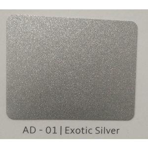 ALUDECOR ACP PANELS (SHEET SIZE 8 ft x 4 ft) - EXOTIC SILVER (AD01), grade al33