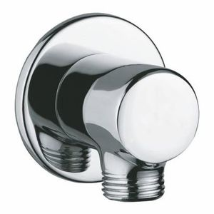 JAQUAR SHOWERS ACCESSORIES - SHA-1195R WALL OUTLET DIAMETER 30 MM, 40 MM LONG ROUND SHAPE WITH 15 MM THREAD TO CONNECT HAND SHOWER PIPE & FLANGE