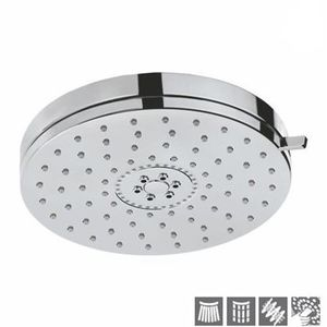 JAQUAR AIR SHOWERS SERIES - OSH-1769 OVERHEADED SHOWER DIAMETER 140 MM ROUND SHAPE MULTI FLOW WITH AIR EFFECT WITH RUBIT CLEANING SYSTEM