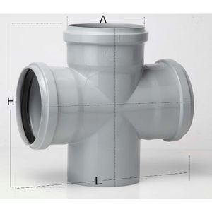 PRINCE SWR ULTRAFIT FITTING - DOUBLE TEE, 4  110mm