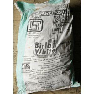 BIRLA WHITE CEMENT - 5 KG BAG (5KG PACKET X 5 - TOTAL 25 KG)