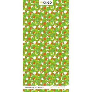 ALSTONE OLIGO WOOD POLYMER COMPOSITE BOARD (8 x 4 FEET) - CITRUS CIRCLE, both side, matt, 12 mm