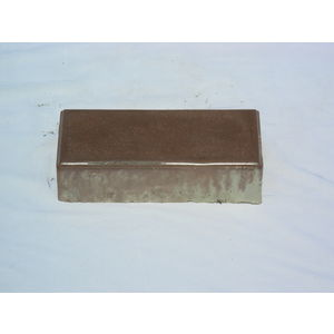 5 X 5 RUBBER MOULD GLOSSY PAVING BLOCK (60MM THICKNESS), brown