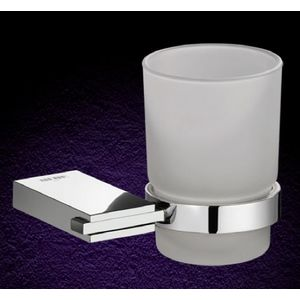ESSESS: BATHROOM ACCESSORIES CRUZO SERIES - AC604 TUMBLER HOLDER WITH GLASS TUMBLER