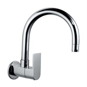 JAQUAR LYRIC SERIES QUARTER TURN - LYR-38347 SINK COCK WITH REGULAR SWINGING SPOUT WITH WALL FLANGE