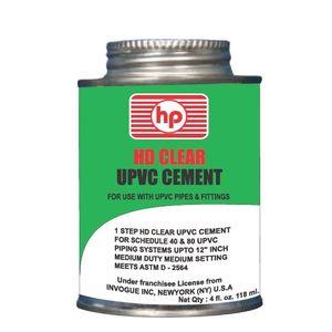 HP UPVC HEAVY DUTY CLEAR SOLVENT CEMENT, 59 ml tin