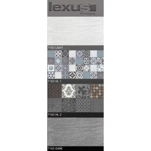 LEXUS 300 X 600 DIGITAL MATT WALL TILES - 7163, dark