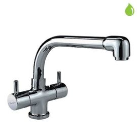 JAQUAR FLORENTINE SERIES QUARTER TURN - FLR-5319NB SINK MIXER, 1 HOLE WITH REGULAR SPOUT WITH 450MM LONG BRAIDED HOSES
