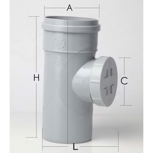 PRINCE SWR ULTRAFIT FITTING - CLEANSING PIPE, 4  110mm