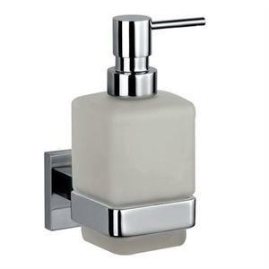 JAQUAR BATH ACCESSORIES KUBIX PRIME SERIES - AKP-35735P SOAP DISPENSER WITH GLASS BOTTLE