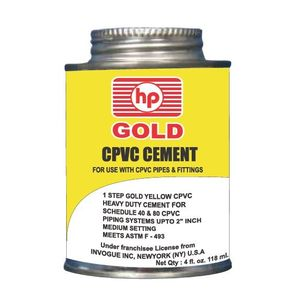 HP CPVC GOLD YELLOW SOLVENT CEMENT, 946 ml tin