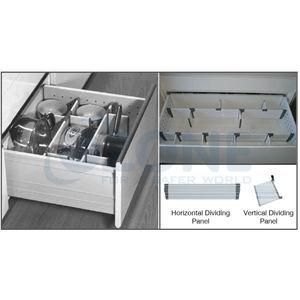 OZONE ERGOTEC DRAWER ACCESSORIES - HORIZONTAL DIVIDING PANEL FOR GLASS CLIP SET