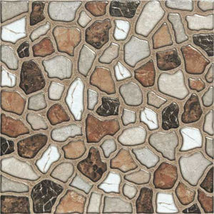 KAJARIA 300 X 300 VITRIFIED DIGITAL PAVIGRES - RIVER STONE COPPER