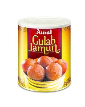 Amul Mithai Gulab Jamun 1 Kg Tin