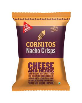 CORNITOS NACHO CRISPS CHEESE & HERBS 150G