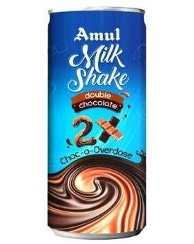 AMUL DOUBLE CHOC MILKSHAKE 200 ML CAN