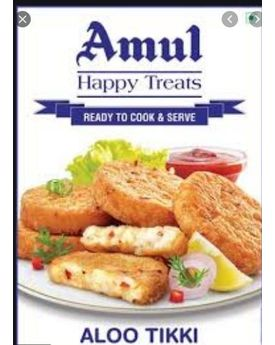 Amul Happy Treats Aloo Tikki 30x400g