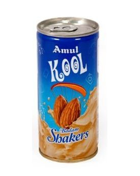 AMUL KOOL BADAM MS 200ML CAN