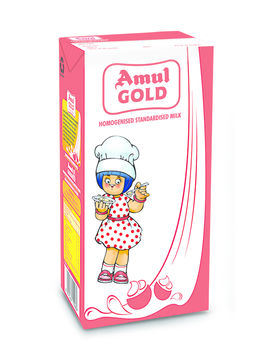 Amul Gold Standardised Milk 1 Ltr TP