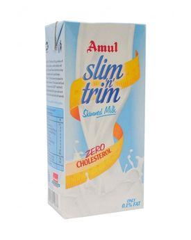 AMUL SLIM N TRIM UHT SKIMMED MILK 1 LT TP