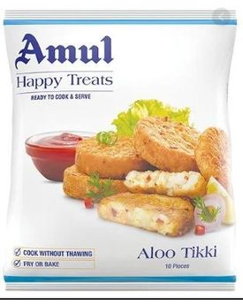 AMUL HAPPY TREATS ALOO TIKKI 8X1.5 KG