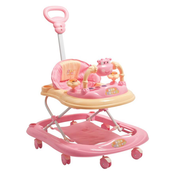 Meemee Musical 2-in-1 Walker With Parent Rod,  pink