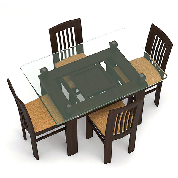 ADELLA– WOODEN DINING SET ( 1+ 4), six seater