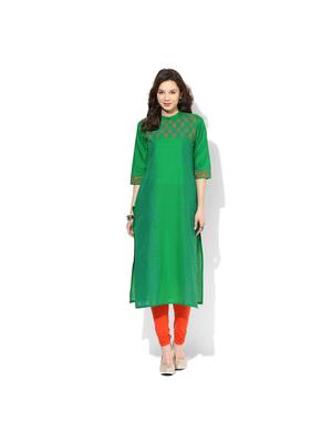 Riya Printed Kurta, m,  green